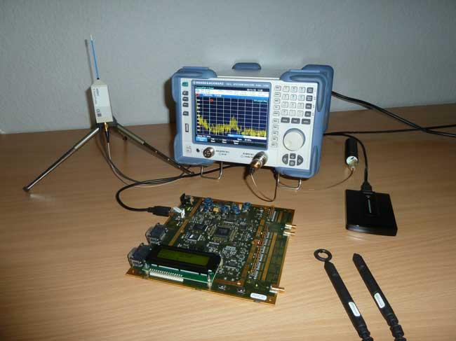 EMInspector Sonden und HZ551 Nahfeldsonde mit FSC Spektrumanalysator